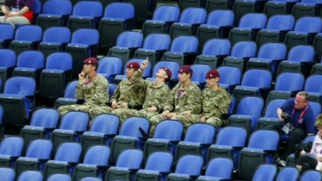 Gran Bretaña combate con soldados la falta de público en los Juegos Olímpicos