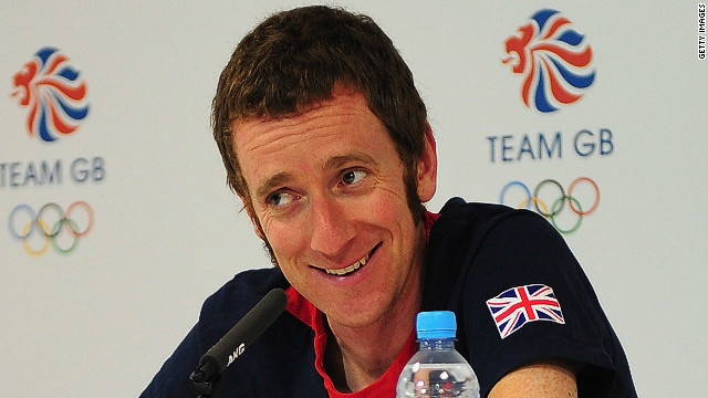 Bradley Wiggins displays his fine facial hair after one of his many successes in 2012