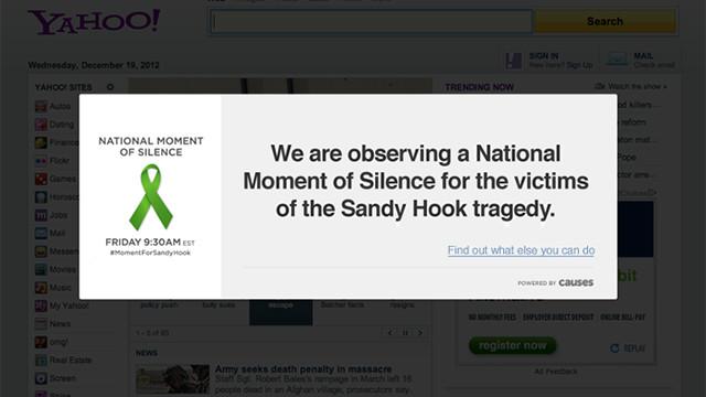 """Sitios web harán """"un minuto de silencio"""" por las víctimas de Connecticut"""