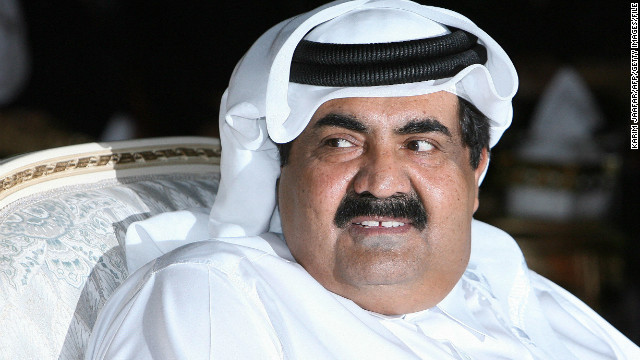 Qatar's Emir Sheikh Hamad bin Khalifa al-Thani attends ceremony marking 10th anniversary of Al Jazeera in Nov. 2006.