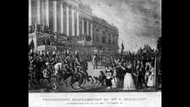 William Henry Harrison took the oath of office on March 4, 1841.
