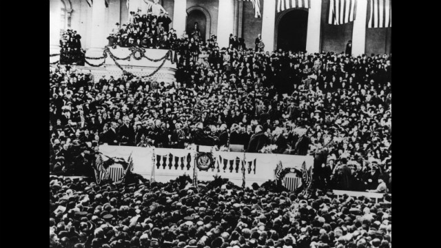 Woodrow Wilson's first inauguration was held on March 4, 1913.