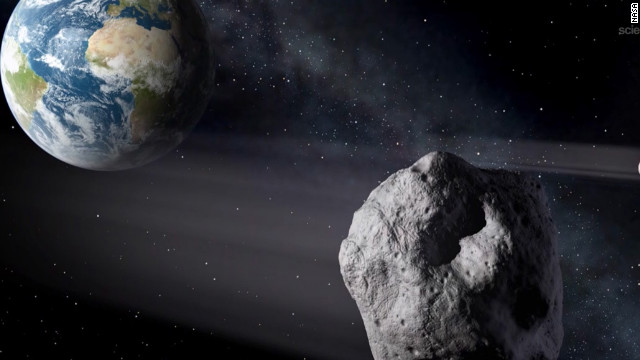 Asteroid 2012 DA14 made a record-close pass -- 17,100 miles -- by Earth on February 15. Most asteroids are made of rocks, but some are metal. They orbit mostly between Jupiter and Mars in the main asteroid belt. Scientists estimate there are tens of thousands of asteroids and when they get close to our planet, they are called near-Earth objects.