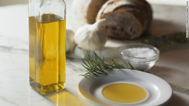 Olive oil is high in a type of fat known as monounsaturated fat, which can help lower your cholesterol and control insulin levels.