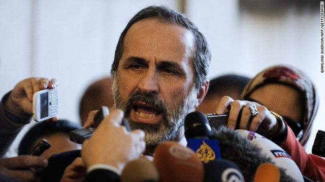 Moaz al-Khatib said he had promised to step down if certain