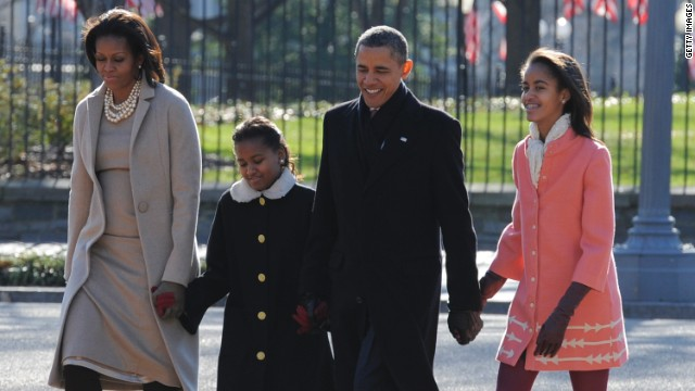 Obama attends church on Easter