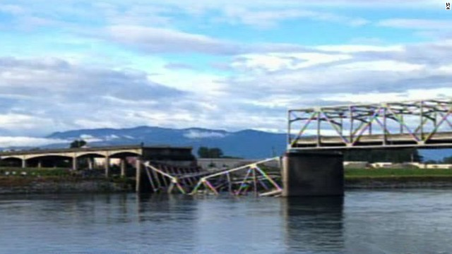 It was not immediately clear Thursday what caused the bridge, located about 60 miles north of Seattle, to collapse.