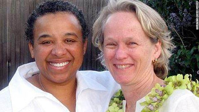 The marriage of Susan Green, left, and Robin Phillips isn't legally recognized in their home state of Arizona.