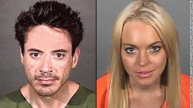 There are some celebs who are well known for problems with drugs and alcohol. Stars like Robert Downey, seen here after an arrest in 2001 for allegedly being under the influence of a controlled substance, and Lindsay Lohan, seen here in 2010 after she received a 90-day jail sentence for the 2007 no-contest plea to drug and alcohol charges. But still others flew under the radar with their issues...