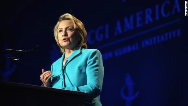 Hillary Clinton supports Obama on Syria