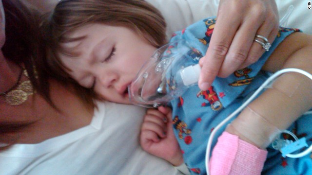 The seizures were so severe Charlotte's heart stopped a number of times. Doctors suggested putting the child in a medically induced coma to give her small, battered body a rest.