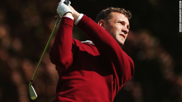 Ukrainian star Andriy Shevchenko started playing golf to escape the pressures of football.