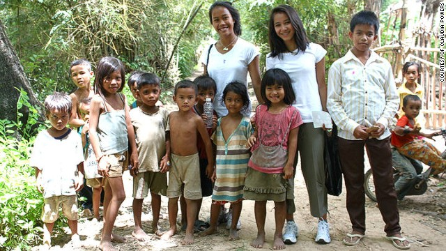Srey Powers, adopted from Cambodia when she was six years old, visits her birth sister's village in 2010.