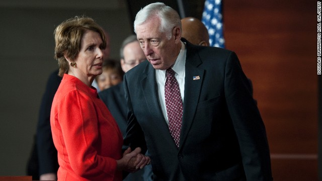 Rep. Nancy Pelosi, D-California, and Steny Hoyer, D-Maryland -- Players on deck. The top two House Democrats are mostly watching and waiting. But they will play a critical role once Boehner decides his next move. They could either bring Democratic votes on board a deal or be the loudest voices against a new Republican alternative. Hoyer will be interesting to watch; he has strongly opposed both the House and Senate plans as cutting too much in spending.