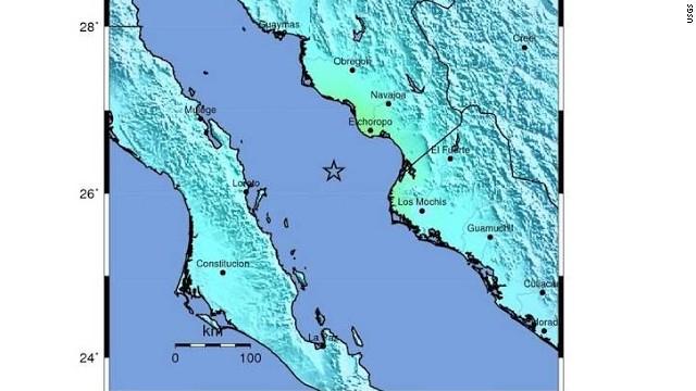 Um terremoto de 6,4 graus de magnitude sacode o Golfo da Califórnia