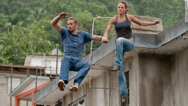 """Walker and Jordana Brewster appear in """"Fast 5."""""""