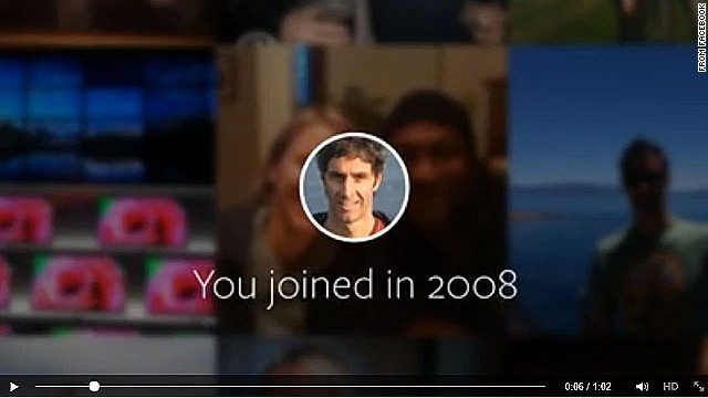 To commemorate its 10th aniversary, Facebook created video highlights of each users' activity on the network.