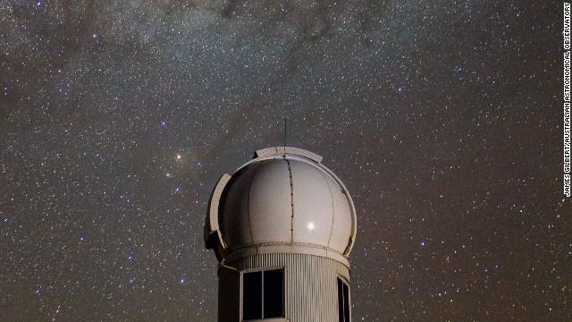 Australia National University's Skymapper telescope, seen under the southern sky.
