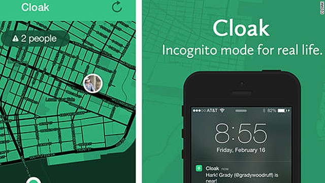 The new Cloak app helps you avoid people in the real world. Uh-oh, looks like Jared is only 600 feet away.
