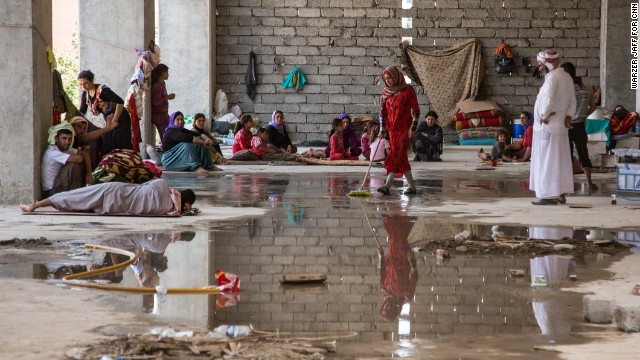 Iraqi refugees fleeing ISIS
