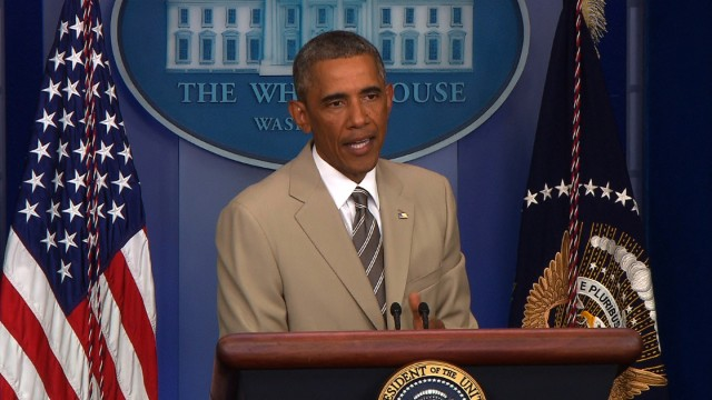 That time Obama wore a tan suit and Twitter freaked out  CNN Political Ticker  CNNcom Blogs