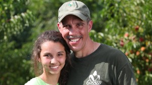 Through his nonprofit, Paillex (pictured with his daughter, Kyra) has provided fresh produce to about 140,000 people.