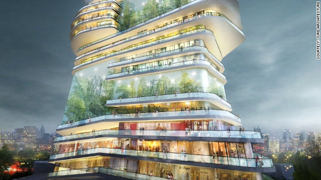 Could this futuristic building house an entire city  CNNcom