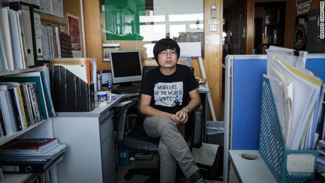 """24-year-old Samuel Li is the former secretary general of the Hong Kong Federation of Students. """"I have been in contact with activists in China,"""" he told CNN last year. """"They are really interested in social movements in Hong Kong."""""""