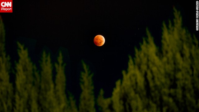 """<a href='http://ireport.cnn.com/docs/DOC-1177472'>Paulo Solano</a> combined three different exposures using HDR photography to create this beautiful image from Van Nuys, California, of the October 8 lunar eclipse. The second """"blood moon"""" of the year could be witnessed throughout North America, as well as over most of the Pacific and much of East Asia. If you missed your chance to see it, don't despair. Two more eclipses are coming in 2015, on April 4 and September 28."""