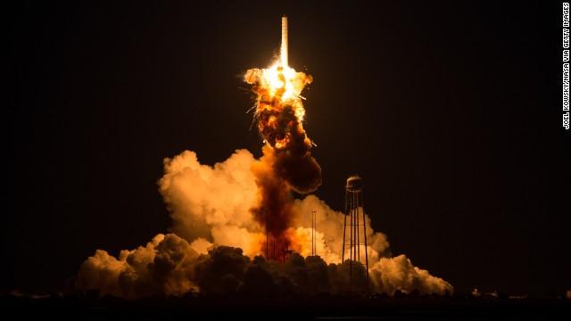 Unmanned rocket explodes