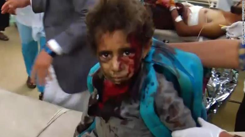 Image result for photos of school bus shooting in yemen