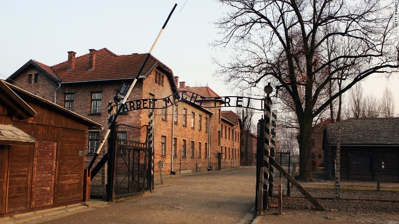 "Poland's government wants to jail people for using phrases like ""Polish death camps"" to refer to Auschwitz (pictured) and other camps that Nazi Germany operated in occupied Poland during WWII."