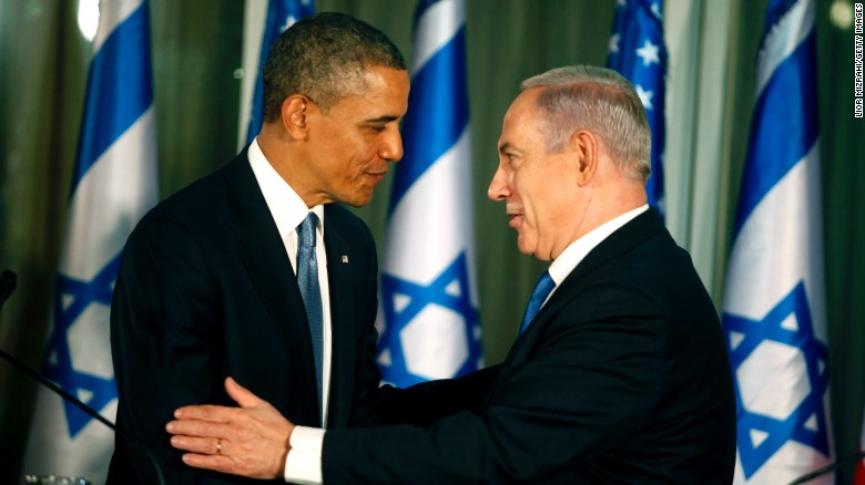 U.S. President Barack Obama and Israeli leader Benjamin Netanyahu during a news conference in 2013.