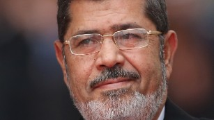Former Egyptian President Mohamed Morsy seen in Berlin, Germany in January 2013.