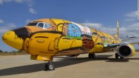 Brazil graffiti plane: Football team plane spray painted ...