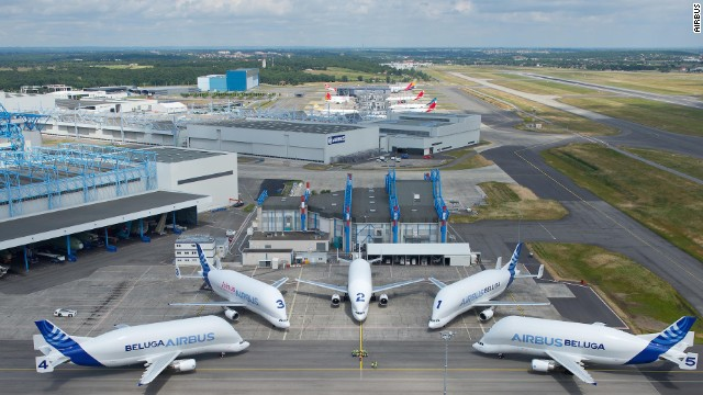 Airbus operates a fleet of five Beluga cargo airlifters, which together perform more than 60 flights each week to transport components for the company's jetliners between 11 sites in Europe.