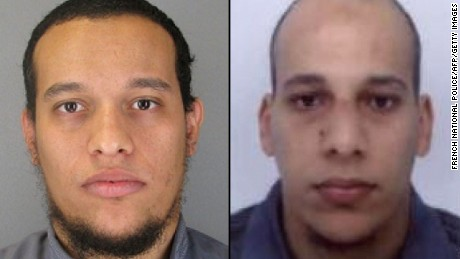 Said Kouachi, left, and Cherif Kouachi are suspects in the Paris attack.