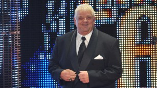 Dusty Rhodes, here at the WWE Hall Of Fame Induction Ceremony in April 2011, liked to pitch himself as an everyman.