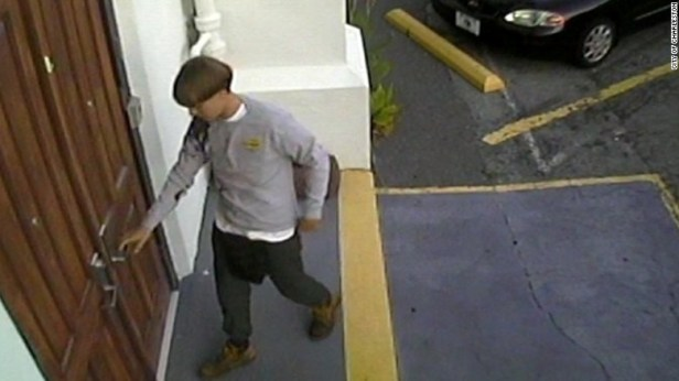 Dylann Roof, 21, of Lexington, South Carolina, is seen in this security camera image distributed by the Charleston Police Department. He is suspected of killing nine people after he entered the Emanuel African Methodist Episcopal Church in Charleston, South Carolina, on Wednesday, June 17, and began shooting. The suspect is still at large.