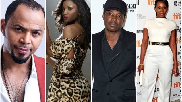 Nollywood's biggest stars - Ramsey Nouah, Omotola Jalade-Ekeinde, Genevieve Nnaji and Jeta Amata.