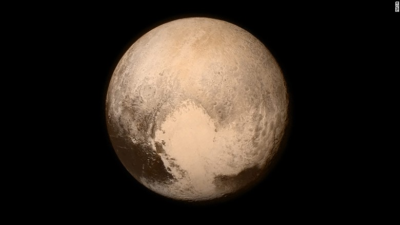 This image of Pluto was captured by New Horizons on Monday, July 13, about 16 hours before the moment of closest approach. The spacecraft was 476,000 miles from Pluto's surface.