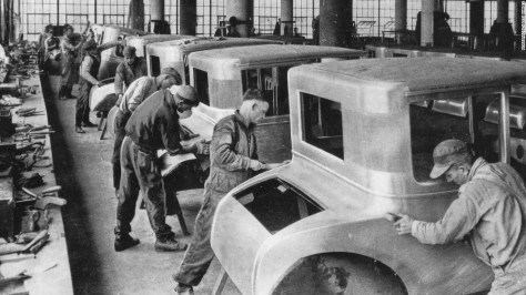 """By 1927, Ford was one of America's most formidable industrialists. He'd introduced a $5-a-day wage in 1914 -- """"twice what could be earned at any other auto company,"""" <a href=""""http://www.pbs.org/wgbh/americanexperience/features/timeline/henryford/"""" target=""""_blank"""">a PBS documentary observed</a> -- and helped build the modern middle class, though his own beliefs <a href=""""https://www.thehenryford.org/exhibits/hf/The_Innovator_and_Ford_Motor_Company.asp"""" target=""""_blank"""">could be hidebound</a> and <a href=""""http://history.hanover.edu/hhr/99/hhr99_2.html"""" target=""""_blank"""">prejudiced</a>."""