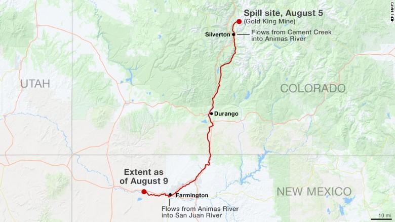 River spill map