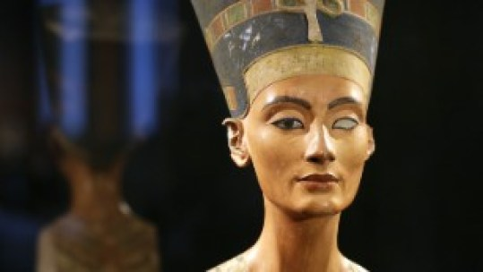 The Nefertiti bust on display in Berlin in 2012.