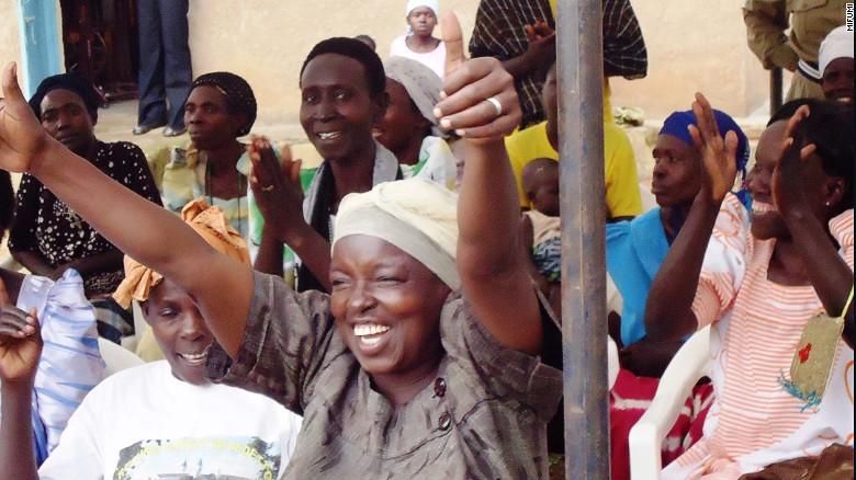 Women of Kirewa, Uganda, celebrating.