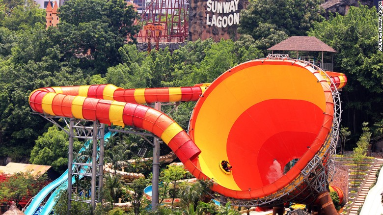 Sunway Lagoon is a multipark extravaganza, with 80 attractions spread over 360,000 square meters, including the world's largest water ride: Vuvuzela (pictured).