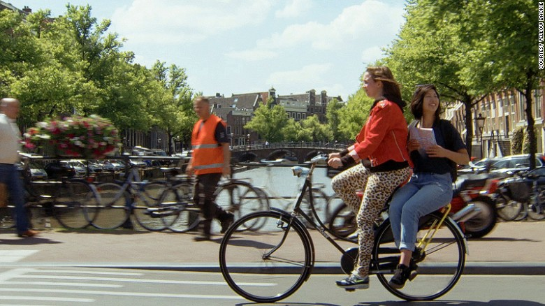 Cyclists are not allowed to charge their passengers for the ride.