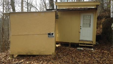 Photo of Robert Lewis Dear's cabin in Black Mountain, North Carolina