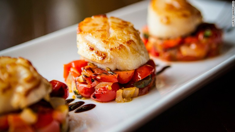 Most of the seafood at Barracuda comes from local waters.