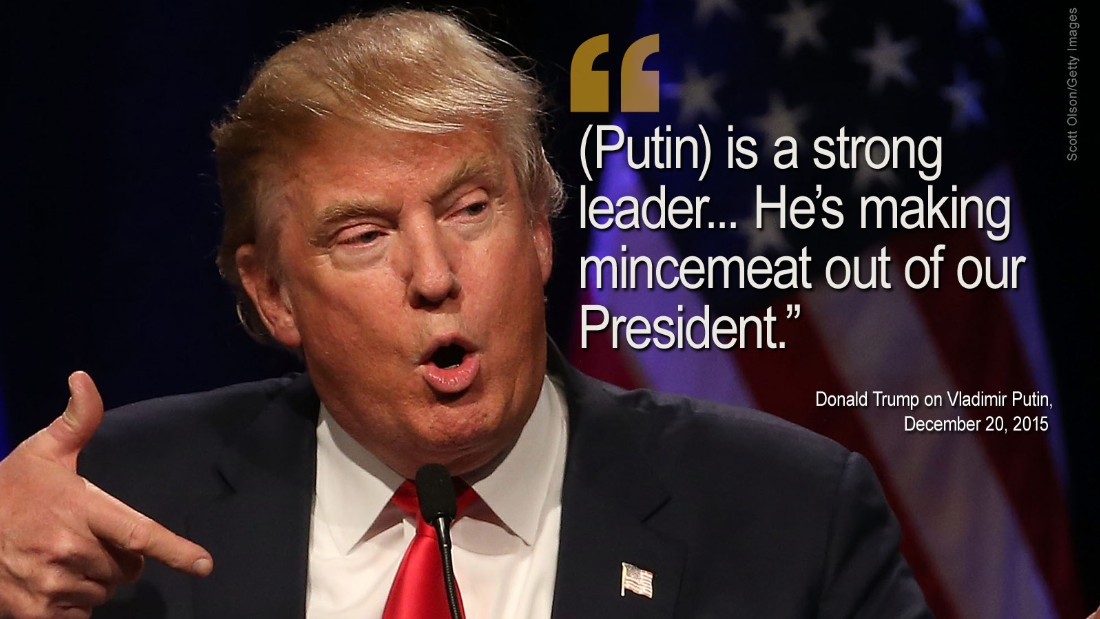 Image result for trump PRESIDENT and russia Putin